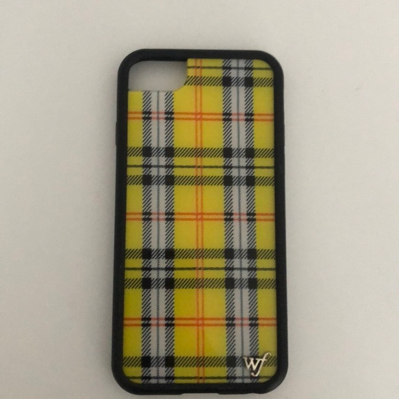 new concept acd67 df8db yellow plaid wildflower 6/7/8 case